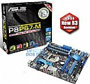 Asus P8P67-M (LGA1155 - DDR3 2200) Chipset Intel P67 - USB3.0 - SATA 6Gb/s - TurboV - CrossFireX