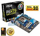 Asus P9X79 Deluxe (LGA 2011 - DDR3 2400) Chipset Intel X79 - Bluetooth - USB 3.0 - eSATA 6Gb/s