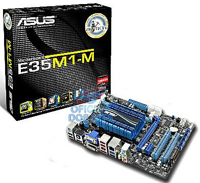 Asus E35M1-M (AMD FM1 - DDR3 1066) Chipset AMD A50M Fusion Graphics - HDMI - e-SATA 6Gb/s