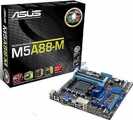 Asus M5A88-M (AM3+ - DDR3 2000) Vídeo VGA/DVI - Chipset AMD 880G - USB 3.0 - SATA 6Gb/s