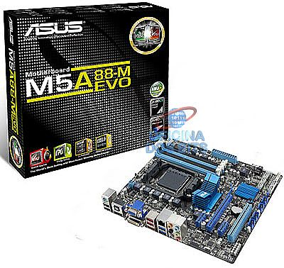 Asus M5A88-M EVO (AM3+ - DDR3 2000) Vídeo HDMI/DVI - Chipset AMD 880G - USB 3.0 - SATA 6Gb/s