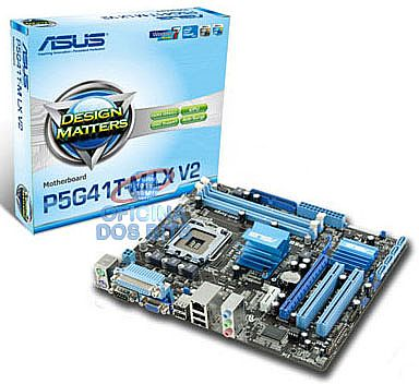 Asus P5G41T-M LX V2 (LGA 775 - DDR3 1333) Chipset Intel G41 - Turbo Key - Anti-Surge - SATA 3Gb/s