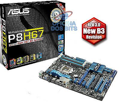 Asus P8H67 (LGA 1155 - DDR3 1333) Chipset Intel H67 - USB3.0 - SATA 6Gb/s