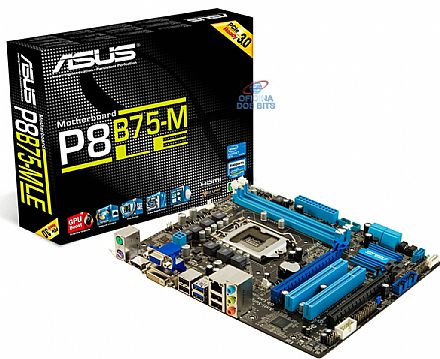 Asus P8B75-M LE (LGA 1155 - DDR3 2200) Chipset Intel B75 - USB 3.0 - PCI-Express 3.0 - SATA 6GB/s