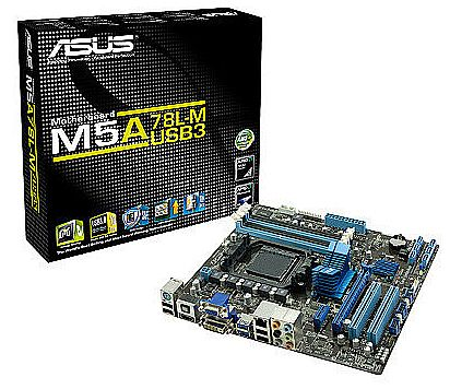 Asus M5A78L-M/USB3 (AM3+ - DDR3 2000) TDP 140W - Chipset AMD 760G - USB 3.0 - Core Unlocker