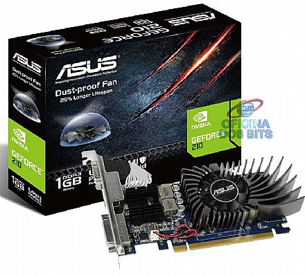 GeForce GT 640 1GB GDDR3 128bits - Low Profile - HDMI/DVI/VGA - Asus GT640-1GD3-L