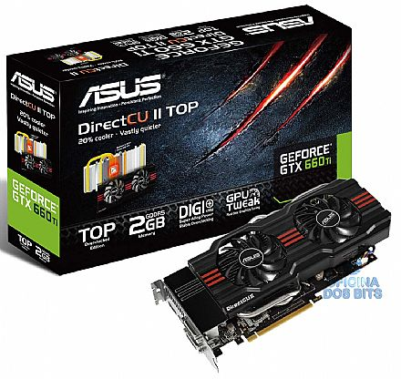 GeForce GTX 660Ti 2GB GDDR5 192bits - GTX660 TI-DC2O-2GD5