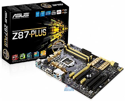 Asus Z87-Plus (LGA 1150 - DDR3  3000) - Chipset Intel Z87 - DVI/HDMI/VGA - SLI/CrossFireX - USB 3.0