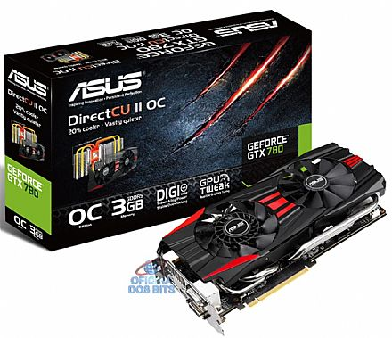 GeForce GTX 780 3GB GDDR5 384bits - Asus GTX780-DC2OC-3GD5