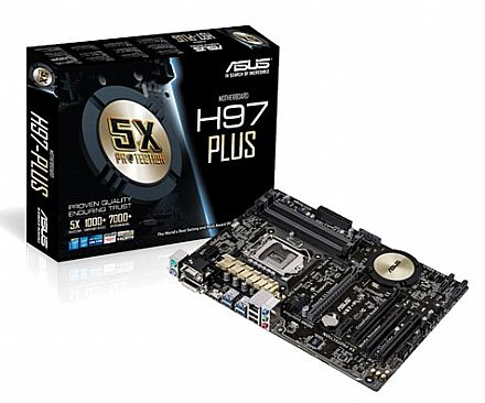 Asus H97-PLUS (LGA 1150 - DDR3 1600) - Chipset Intel H97 - USB 3.0 - Sata 6Gb/s