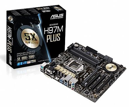 Asus H97M-PLUS (LGA 1150 - DDR3 1600) - Chipset Intel H97 - micro-ATX - 5X Protection - Fan Xpert 2+