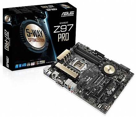 Asus ASUS Z97-PRO (LGA 1150 - DDR3 3200 O.C.) Chipset Z97 - Crystal Sound 2 - 5-Way Optimization