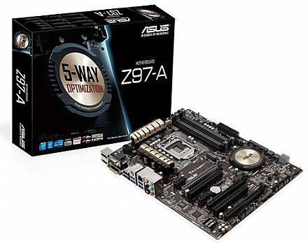 Asus Z97-A  (LGA 1150 - DDR3 3200 O.C.) Chipset Z97 - Crystal Sound 2  - Fan Xpert 3