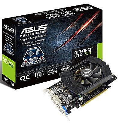 GeForce GTX 750 1GB GDDR5 128bits - Asus GTX750-PHOC-1GD5
