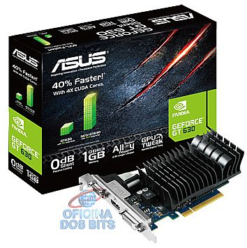 GeForce GT 630 1GB GDDR3 64bits - Asus GT630-SL-1GD3-L