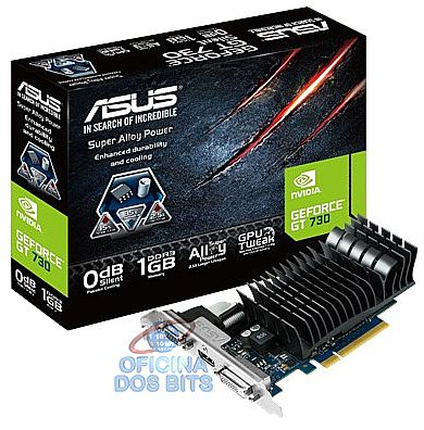 GeForce GT 730 1GB DDR3 64 bits - Asus GT730-SL-1GD3-BRK