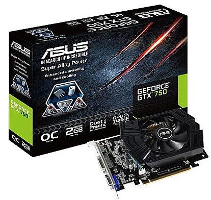 GeForce GTX 750 2GB GDDR5 128bits - Asus GTX750-PHOC-2GD5