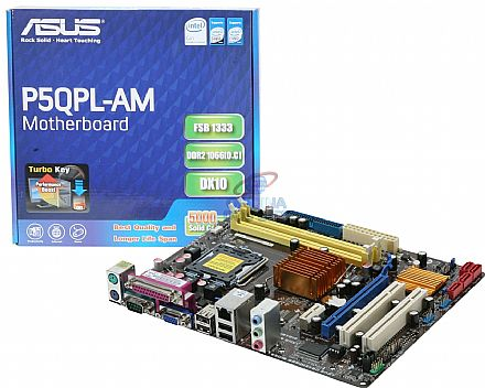 Asus P5QPL-AM (LGA 775 - DDR2) Video GMA X4500 - Chipset Intel G41