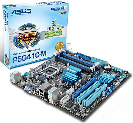Asus P5G41C-M (LGA 775 - DDR2/DDR3) - HDMI - Chipset Intel G41 - Video GMA X4500