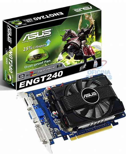 GeForce GT 240 1GB DDR3 - HDMI - PCI-E - Asus