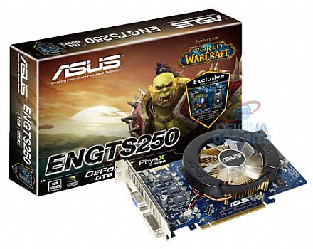 GeForce GTS 250 1GB GDDR3 256bits - PCI-E - Asus *grátis World of Warcraft door hanger