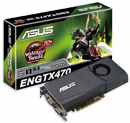 GeForce GTX 470 1280MB GDDR5 320bits - PCI-E - Asus Voltage Tweak Overclock
