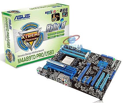 Asus M4A89TD PRO/USB3 (AM3 - DDR3 2000) TDP 140W - Chipset AMD 890FX - USB 3.0