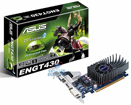 GeForce GT 430 1GB DDR3 128bits - DVI/HDMI/VGA - Low Profile - PCI-E - Asus