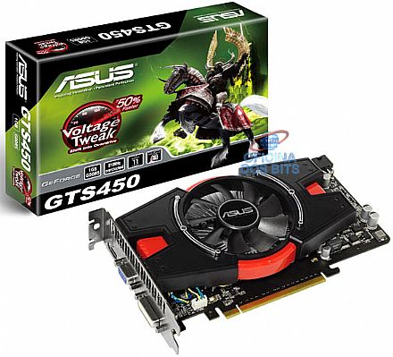 GeForce GTS 450 1GB GDDR5 128bits - 810MHz Overclocked - AIWI - PCI-E - Asus ENGTS450