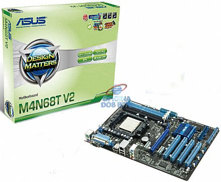 Asus M4N68T V2 (AM3 - DDR3 1800) TDP 125W - Chipset NVIDIA nForce 630a - ATA 3Gb/s - Turbo Key